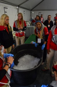 Ice Immersion Baths. A low costs and very effective method of cooling runners!