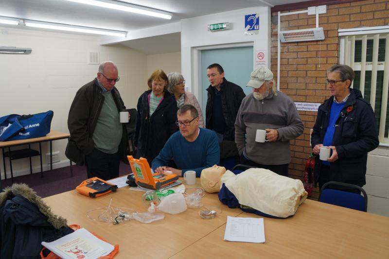 Defibrillator Installed at Local Community Park