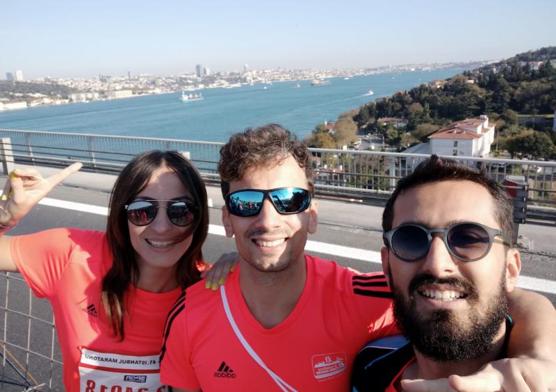 Deniz Batki from our Turkey office runs 15k to raise money for the Hayat Sende Youth Academy Association