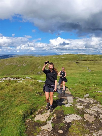 Becki & Stef walk 300 miles to raise over £3,000 for War Child UK