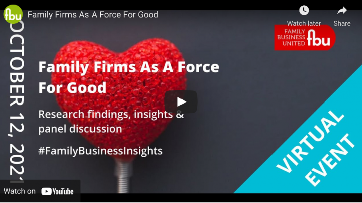 Our Chairman, Tim Good, takes part in 'Family Firms as a Force for Good' Event
